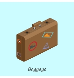 Luggage for things when traveling vector