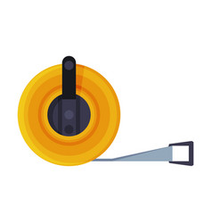 Measure tape construction tool flat style vector