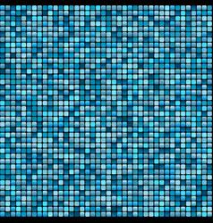 Mosaic tile background aqua colours vector