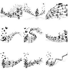 Notes 9 set vector image