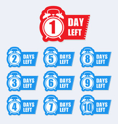 number days left badge for sale or promotion vector image