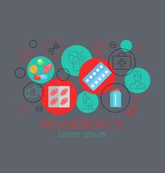 pharmacy horizontal banner vector image