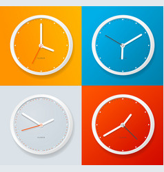 realistic detailed 3d clock template on a color vector image