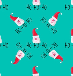 Santa claus on blue background Seamless pattern vector image