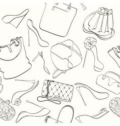 Seamless bag pattern vector