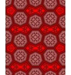 Seamless ornament tile pattern vector
