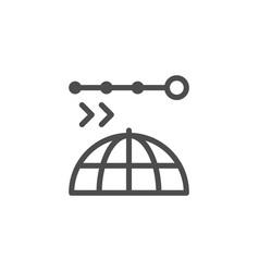 set line icons navigation vector image
