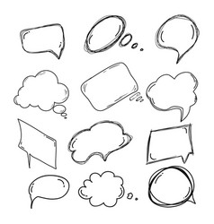 Set of handdrawn doodle boobles for your text vector