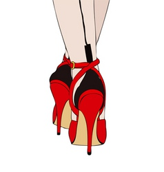 Shoes and socks sexy vector