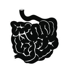 Small intestine black icon vector