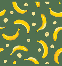summer exotic pattern with yellow bananas vector image