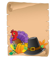Thanksgiving theme parchment 2 vector