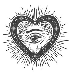 the eye providence tattoo esoteric vector image