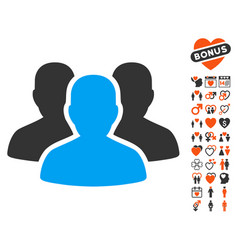 user group icon with dating bonus vector image