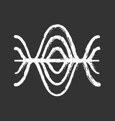 Voice recording chalk icon vibration noise level vector