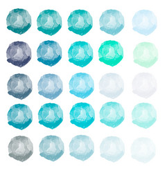 watercolors blue green mint gray blobs vector image
