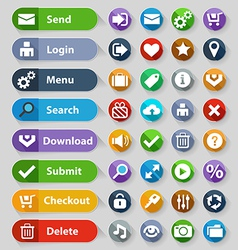 Web design buttons set vector