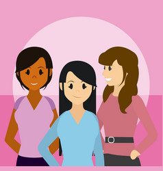 Young womens friends vector