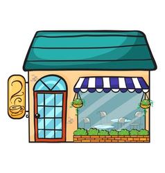 a coffee shop vector image vector image