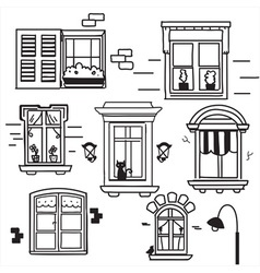 Hand drawn windows vector image vector image