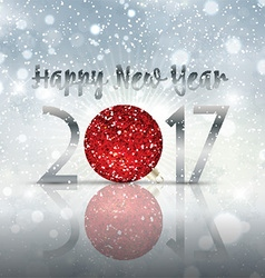 Happy new year bauble background vector
