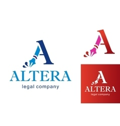 Letter A logo for Business vector image