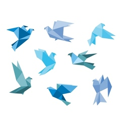 Paper pigeons and doves vector image vector image