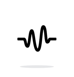 Sound wave icon on white background vector image vector image