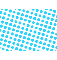 abstract geometric pattern of blue circle dots in vector image