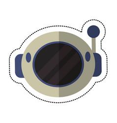 helmet astronaut equipment shadow vector image vector image