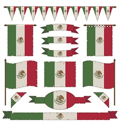 mexican flag decorations vector image vector image