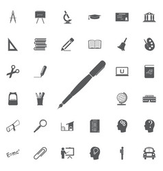 pen icon isolated flat design vector image