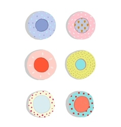 Plates and Dishes Ceramics Colorful Fun Set vector image vector image