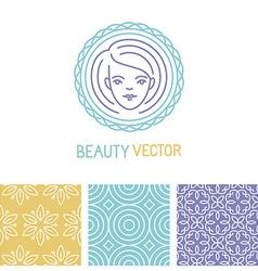 beauty logo design template vector image vector image
