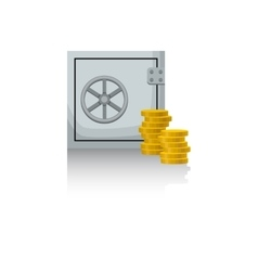 Safe with money vector image