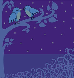 birds in the night vector image vector image