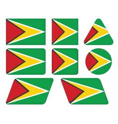 buttons with flag of Guyana vector image vector image