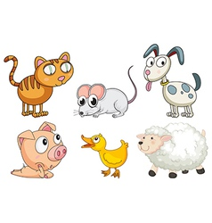 Six different kinds of animals vector image