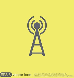Tower wi-fi vector image vector image