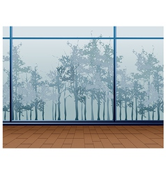 Window Forest View vector image vector image