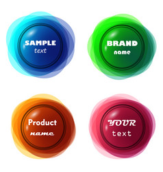 3d like circular colorful frame or rosette vector