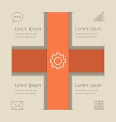 Abstract banners infographic design vector image