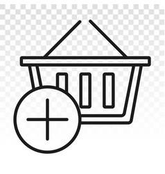 Add item favorite items - line art icon vector