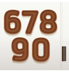 Alphabet Numbers Leather Skin Texture vector