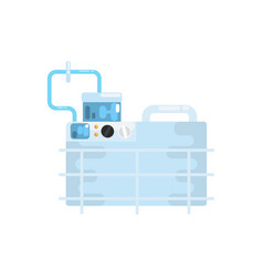 apparatus for lung ventilation medical equipment vector image