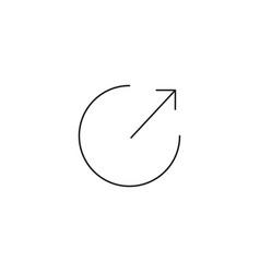 Arrow out of circle icon vector