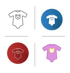 Baby bodysuit icon vector