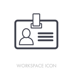Badge outline icon workspace sign vector