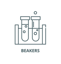 beakers line icon linear concept outline vector image