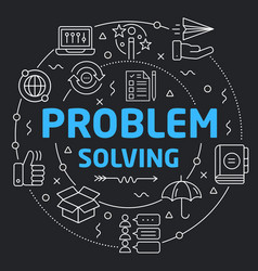 black line flat circle problem vector image